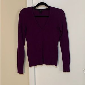H&M purple V-neck long sleeve sweater
